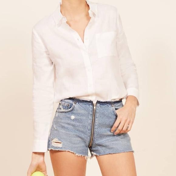 DenimBlue Jean Short Sleeved Zipper Back Short Dress